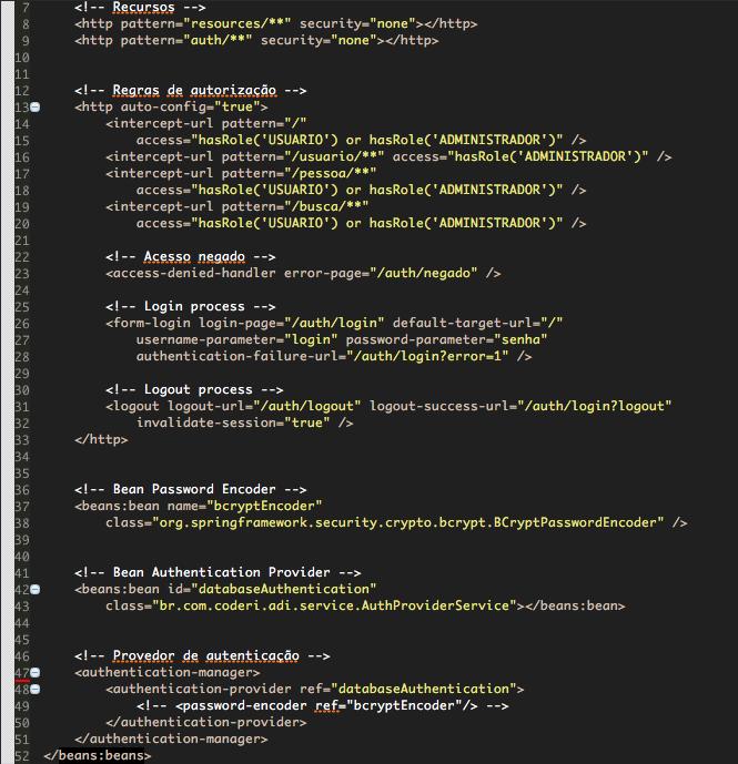 Configuração .XML